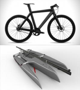 biens de consommation en fibre de carbone : vélo et nautique